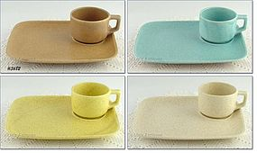 McCOY POTTERY � SOUP AND SANDWICH SET (4)