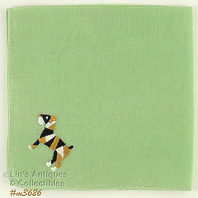 EMBROIDERED �CALICO� DOG HANDKERCHIEF