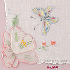 FLOWERS WITH A BUTTERFLY HANDKERCHIEF