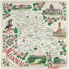 STATE SOUVENIR HANKY, MISSOURI �THE SHOW ME STATE�