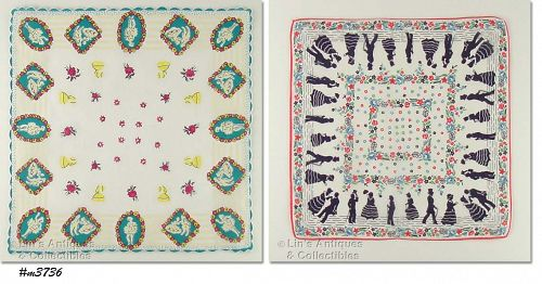 TWO �COURTING� HANDKERCHIEFS