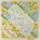 STATE SOUVENIR HANKY, NEBRASKA �THE CORNHUSKER STATE�