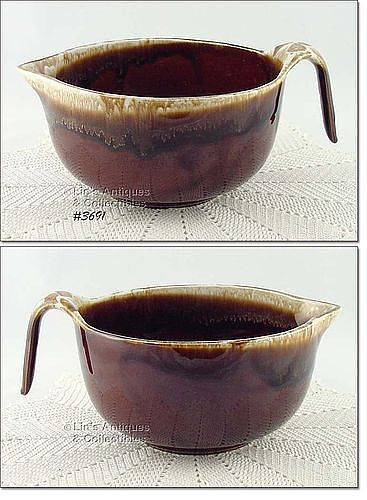 McCOY POTTERY � VINTAGE BROWN DRIP DINNERWARE BATTER BOWL