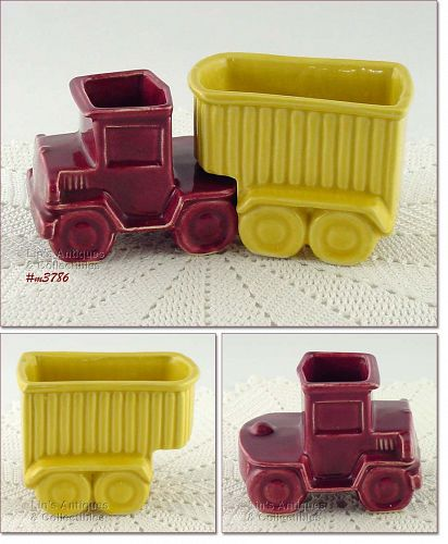 SHAWNEE POTTERY � TRACTOR AND TRAILER PLANTERS