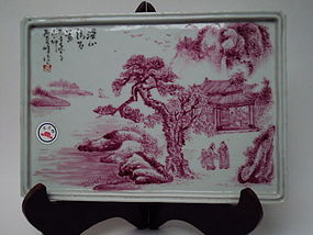 Late of qing dynasty wall painting of porcelain