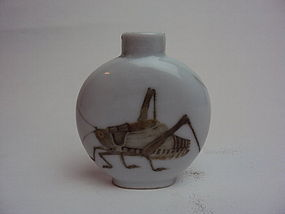 Mid-qing dynasty porcelain snuff bottle