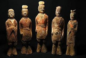 North qi dynasty set of pottery figure