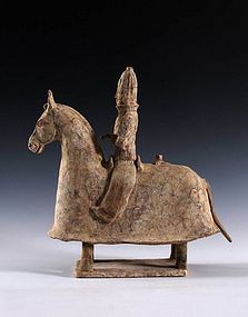 North wei dynasty horse with rider