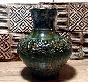Very elegant han dynasty green-glazed vase