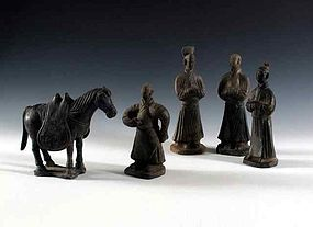 Horses of yuan and tang and western wei dynasty