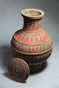 Han dynasty painted pot