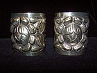 Pre-48  Mexican  Silver Huge Tobias  Matching  Cuffs
