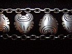 Hector Aguilar Medallion & Chain Vintage Taxco Bracelet