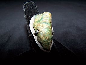 Old Miguel Stone Mexican Silver Vintage Ring