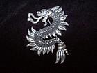 Old Los Castillo Vintage Mexican Silver Dragon Brooch