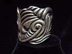 Incredible Lico Vintage Mexican Silver Clamper Repousse