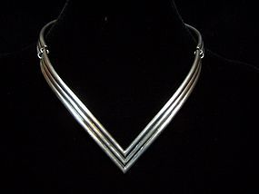 Salvador Teran V Mexican Silver Vintage Necklace
