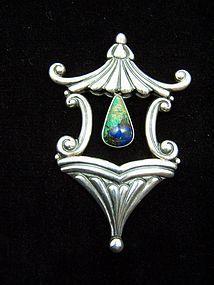 Rare Vintage Mexican Silver Los Castillo  Brooch Pin