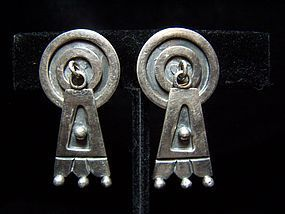 Victoria Vintage Mexican Silver Design #2 Earrings