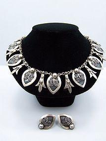 Felipe Martinez Vintage Mexican Silver Necklace