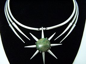 Salvador Teran Vintage Mexican Silver Star Necklace
