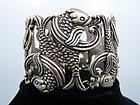 Los Castillo Double Fish Mexican Silver Bracelet