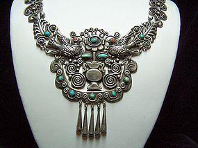 Matilde Poulat Matl Vintage Mexican Silver Necklace