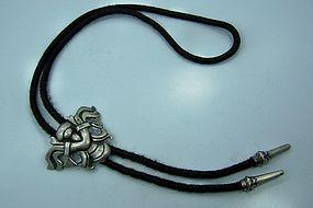 Miguel Bolo Tie Vintage Mexican Silver