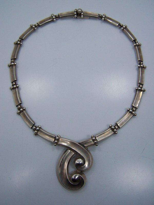 Margot De Taxco #5580 Vintage Mexican Silver Necklace