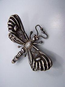 Victoria Book Piece Vintage Mexican Silver Dragonfly