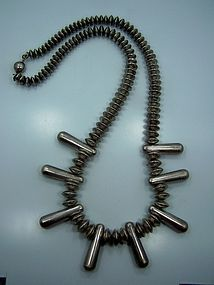 Navajo Squash Sterling Beads Southwestern Necklace