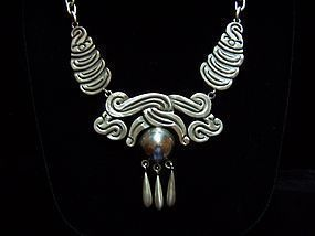 Rancho Alegre Vintage Mexican Silver Necklace
