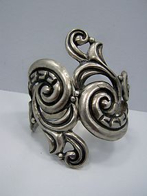 EDP Vintage Mexican Silver Clamper Bracelet