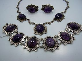 Bernice Goodspeed Full Parure Vintage Mexican Silver
