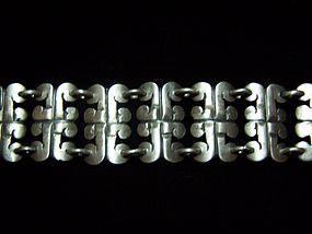 Casa Prieto Glyph Vintage Mexican Silver Bracelet