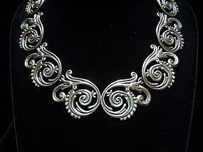 Margot de Taxco #5551 Vintage Mexican Silver Necklace