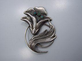 Palacios Vintage Mexican Silver Brooch Superb