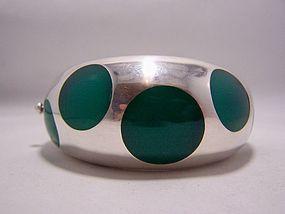 Los Ballesteros Dots Vintage Mexican Silver Bracelet