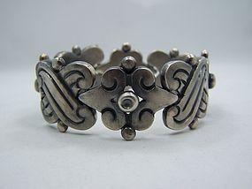 Aguilar Fertility Vintage Mexican Silver Bracelet
