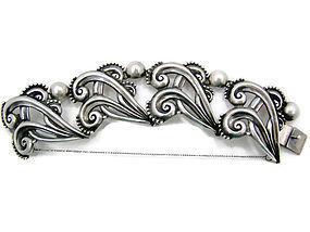 Margot de Taxco # 5161 Vintage Mexican Silver Bracelet