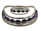 Sigi Pineda Vintage Mexican Silver Amethyst Bracelet