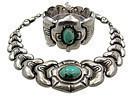 Velasquez Mexican Silver Necklace Bracelet Set