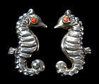 Matl Matilde Poulat Mexican Silver Seahorse Earrings
