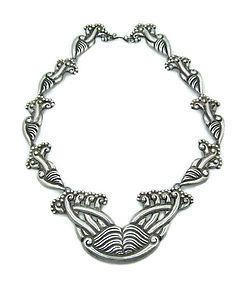 980 Taxco Vintage Mexican Silver Pectoral Necklace