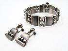 Hector Aguilar Mexican Silver Bracelet & Earrings