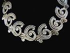 Los Castillo 615 Vintage Mexican Silver Swirl Necklace
