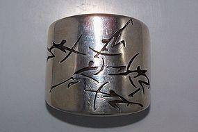 Antonio Pineda Vintage Mexican Silver Archer Cuff