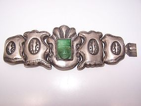 Velazquez Vintage Mexican Silver Huge Bracelet