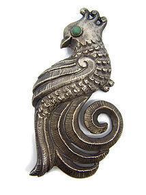 Matl Matilde Poulat Mexican Silver Brooch