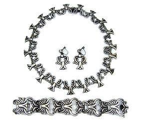 Pedro Castillo  Mexican Silver Bracelet Necklace Er's